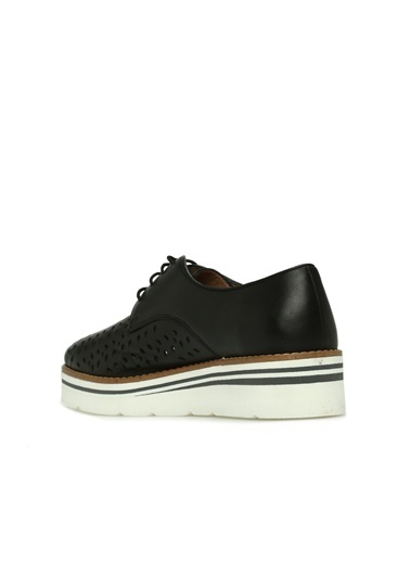 Divarese Divarese 5024214 Delikli Kadın Deri Ayakkabı Siyah